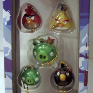 Angry Birds Mini Ornaments 5 Piece Mini Christmas Ornament Set New In Box Front