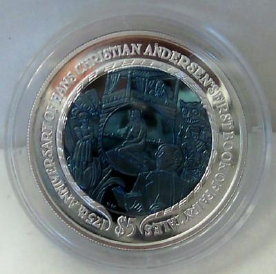 Hans Christian Andersen Coin BVI Titanium 2010 Uncirculated Front