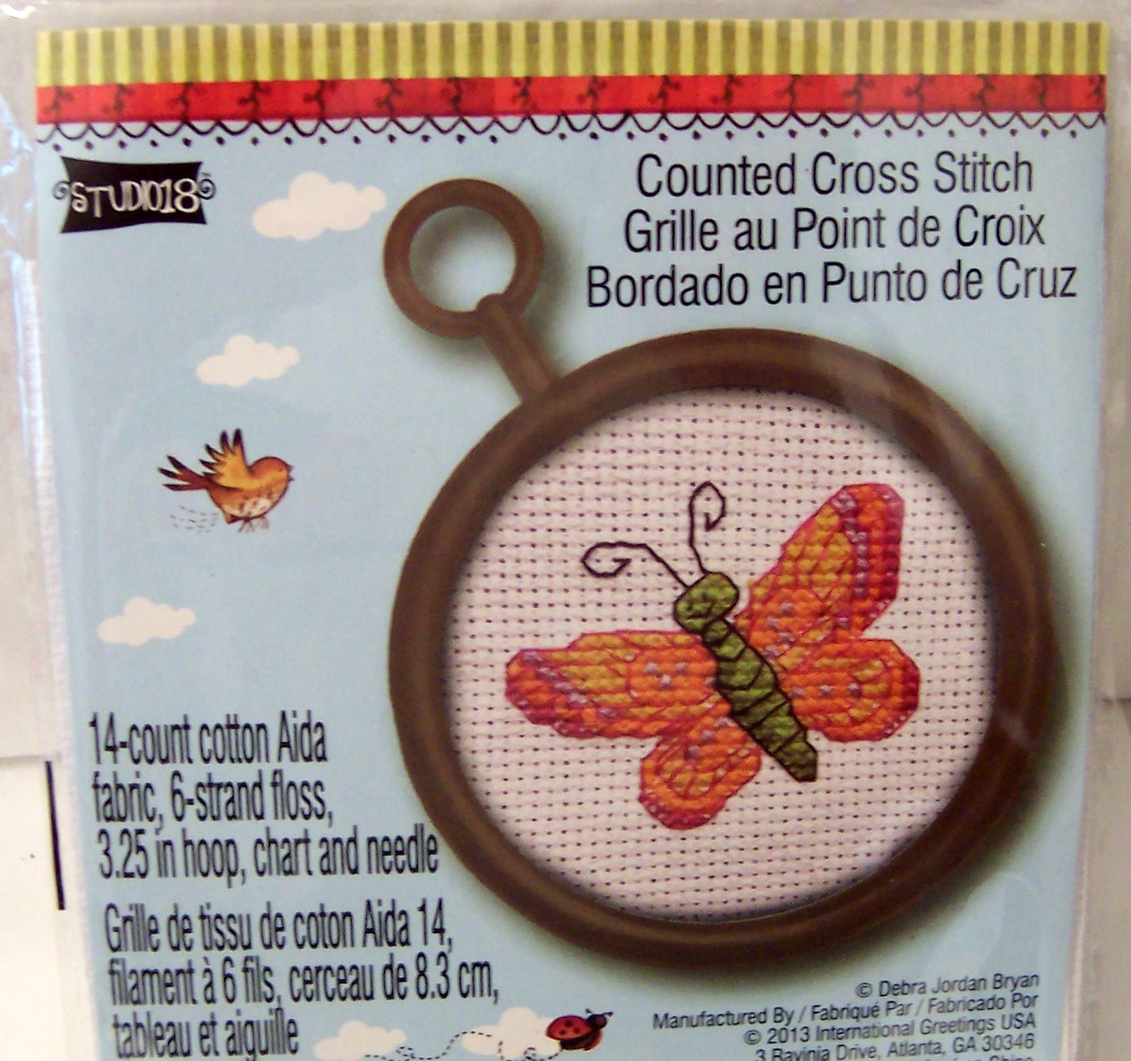Studio18 Debra Jordan Bryan Butterfly Counted Cross Stitch New In