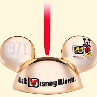 WDW Ear Hat Ornament Disney Celebrating 40 Years Of Magic 2011 Limited Numbered Edition Of 6000 New Front New Front