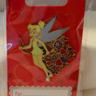 Disney CUPID TINKERBELL TINK VALENTINE 3D PIN GIFT CARD New On Card Front