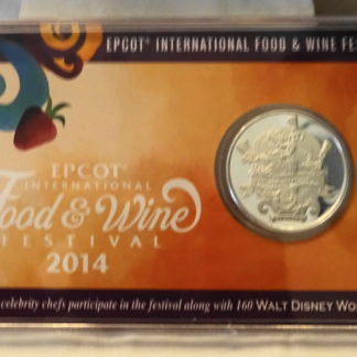 Epcot 2014 Festival Coin Passholder Limited Edition New