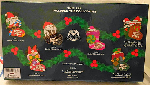 Happy Holidays 2014 Wreath Collection Mystery Set Minnie Disney Pin 106314