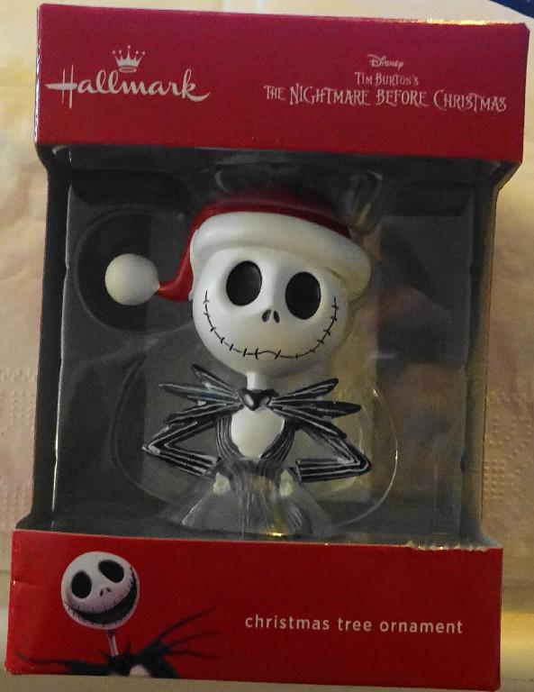 Hallmark Nightmare Before Christmas Ornaments.Disney Jack Skellington The Nightmare Before Christmas Hallmark Christmas Ornament New In Box