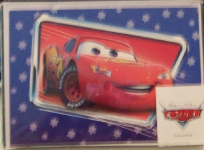Disney Pixar Cars Lightning Mcqueen Racing In To Wish You A Merry