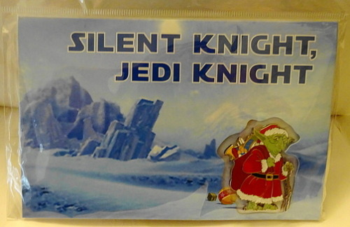 10c5c62403378 Disney Star Wars Santa Yoda Pin On Silent Knight Jedi Knight ...