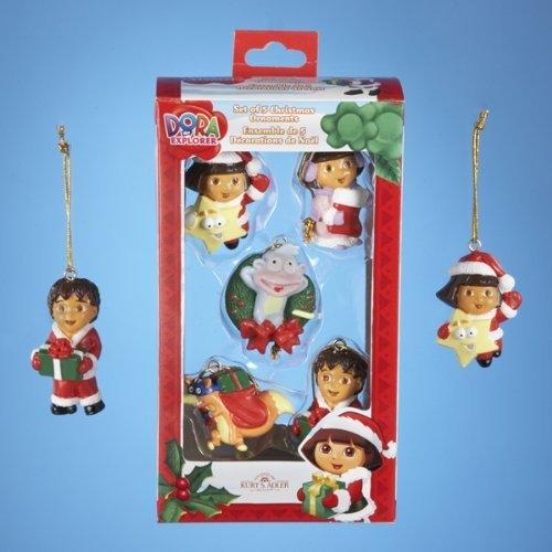 Dora The Explorer #5 Piece 2011 Collectible Mini Christmas ...