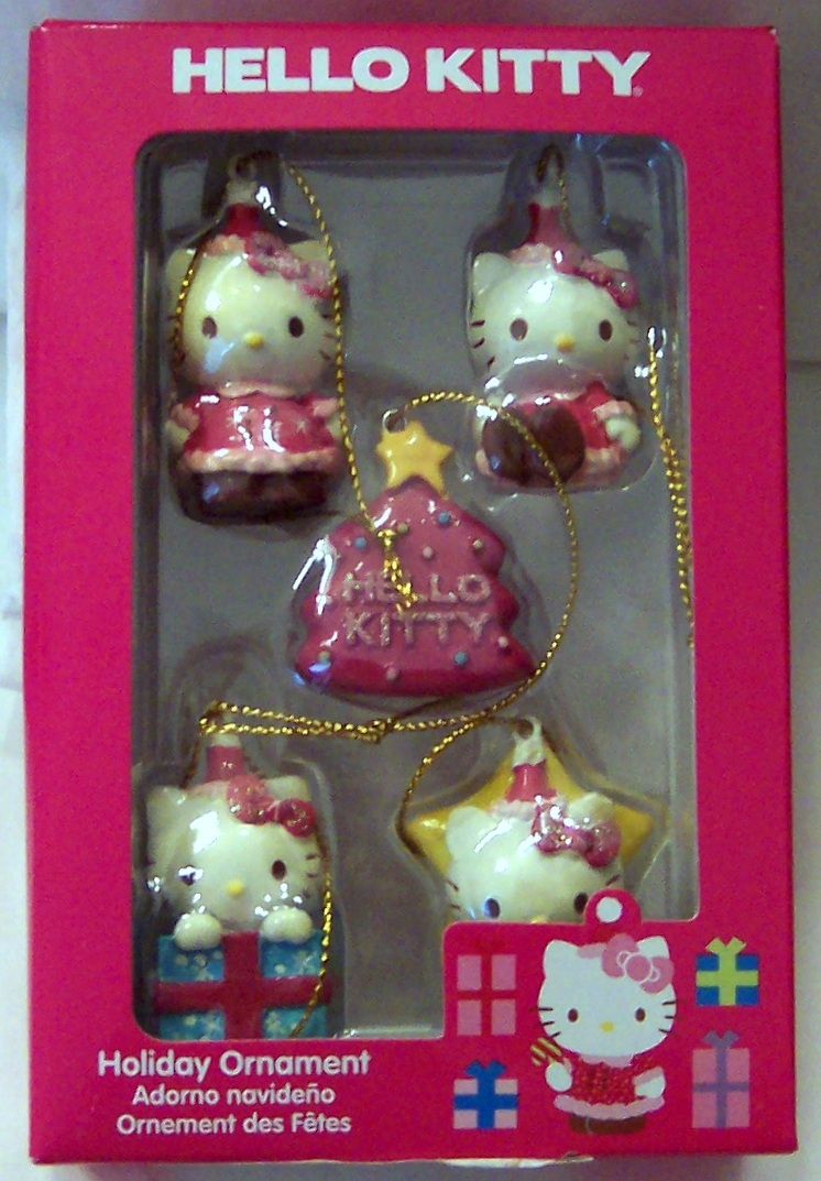Hello Kitty Sanrio 5 Piece Mini Christmas Ornament Set New In Box
