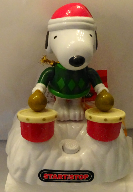 Peanuts Christmas Musical.Peanuts Snoopy Christmas Holiday Drummers Musical Table Ornament New With Tag