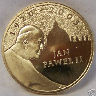 Poland Honors Pope Coin John Paul II Uncirculated Front