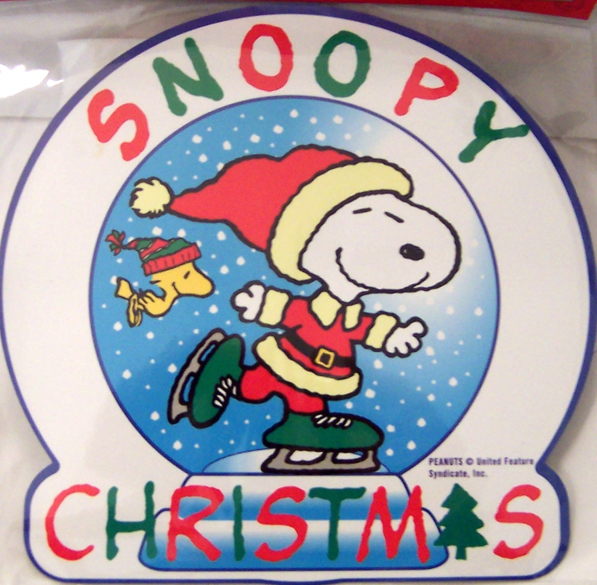 Snoopy And Woodstock Christmas Images.Santa Snoopy And Woodstock Christmas Jumbo Holiday Magnet New Sealed In Pack