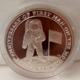 Astronaut Moon Silver Coin IOM 2009 Uncirculated Front