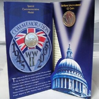 WWII British Coin Medal Set New 60th Anniversary Of World War II British Royal Mint Commemorative Coin And Medal Set In Presentation Pack Open