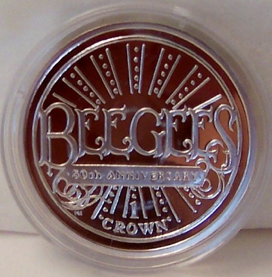 Bee Gees Silver Coin IOM 2009 Uncirculated Front