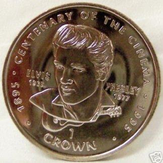 Elvis Presley Gibraltar Coin 1996 Uncirculated Front
