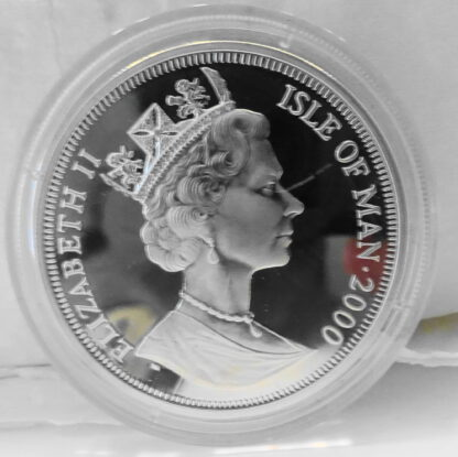 Greenwich Meridian Line Isle Of Man 2000 1 Crown Legal Tender Limited Mintage Of 10,000 Silver Proof Commemorative Coin Uncirculated Back 2