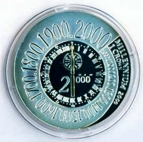 Greenwich Meridian Silver Coin IOM 2000 Limited Mintage Uncirculated