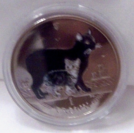 Manx Cat Color Coin And Plush Toy Set: Isle Of Man 2012 1 Crown Legal  Tender Color Copper-Nickel Commemorative Coin Uncirculated Encased In Clear