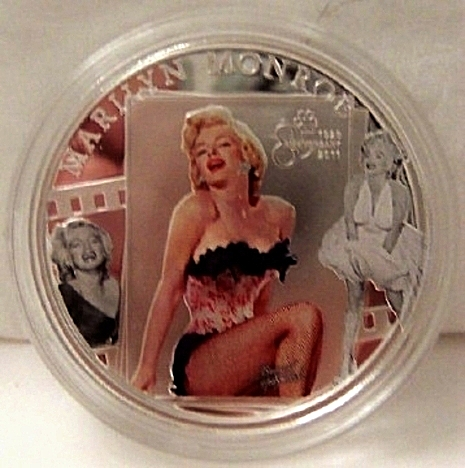 Dancing Man Silver-Plated Coin Cook Islands 2011 Uncirculated With Official licensed Photo