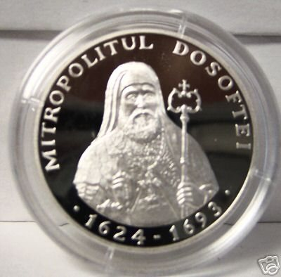 Metropolitan Dosoftei Silver Coin Moldova 2004 Uncirculated Limited Mintage 500 Issued