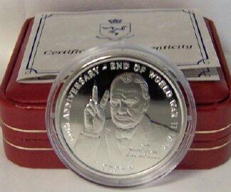 Churchill IOM Silver Coin 2005 Uncirculated With Box + COA