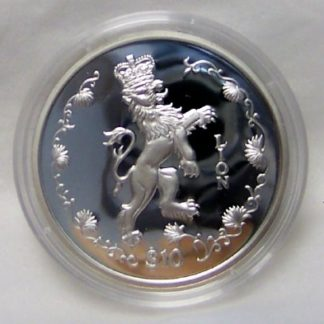 Crowned Lion Silver Coin Sierra Leone Proof Limited Uncirculated