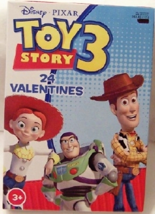Disney Pixar Toy Story 3 Valentines Cards 24 New In Box 8 Fun