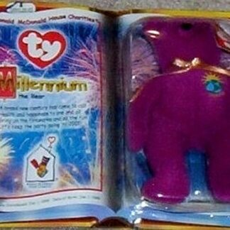 Ronald McDonald House 2000 Millenium The Bear Ty Beanie Babies New Front