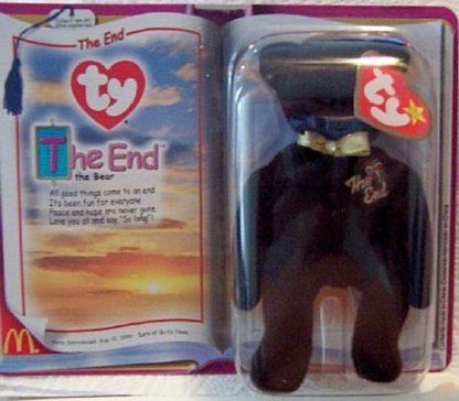Ronald McDonald House Charities 2000 The End The Bear Ty Beanie Babies New In Pack Front