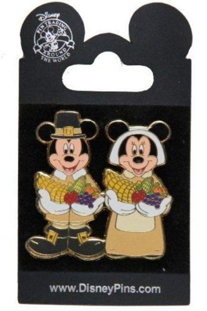 Disney Pilgrims Thanksgiving Pin New On Card Front