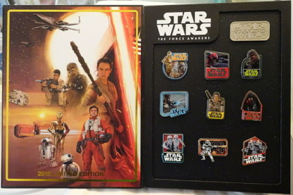 Star Wars Pin Set The Force Awakens (Episode 7) Disney WDW Countdown Limited Edition 2000 Ten Pin Box Set New In Box Open