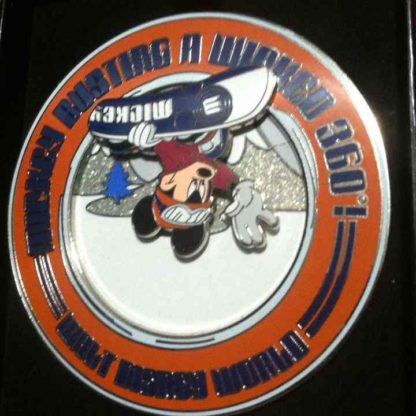 Mickey Snowboarding Jumbo Pin LE 750 3D Pin New Front 2