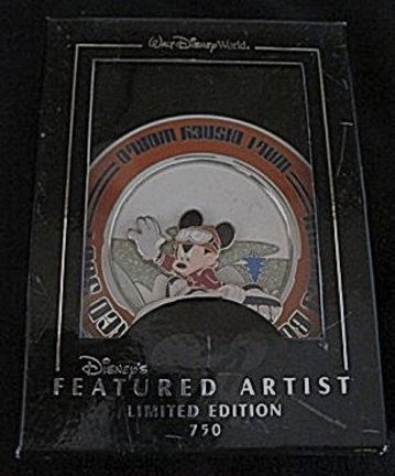Mickey Snowboarding Jumbo Pin LE 750 3D Pin New In Special Window Presentation Box: