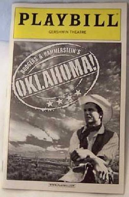 Broadway Playbill Oklahoma 2002 Gently Used Front