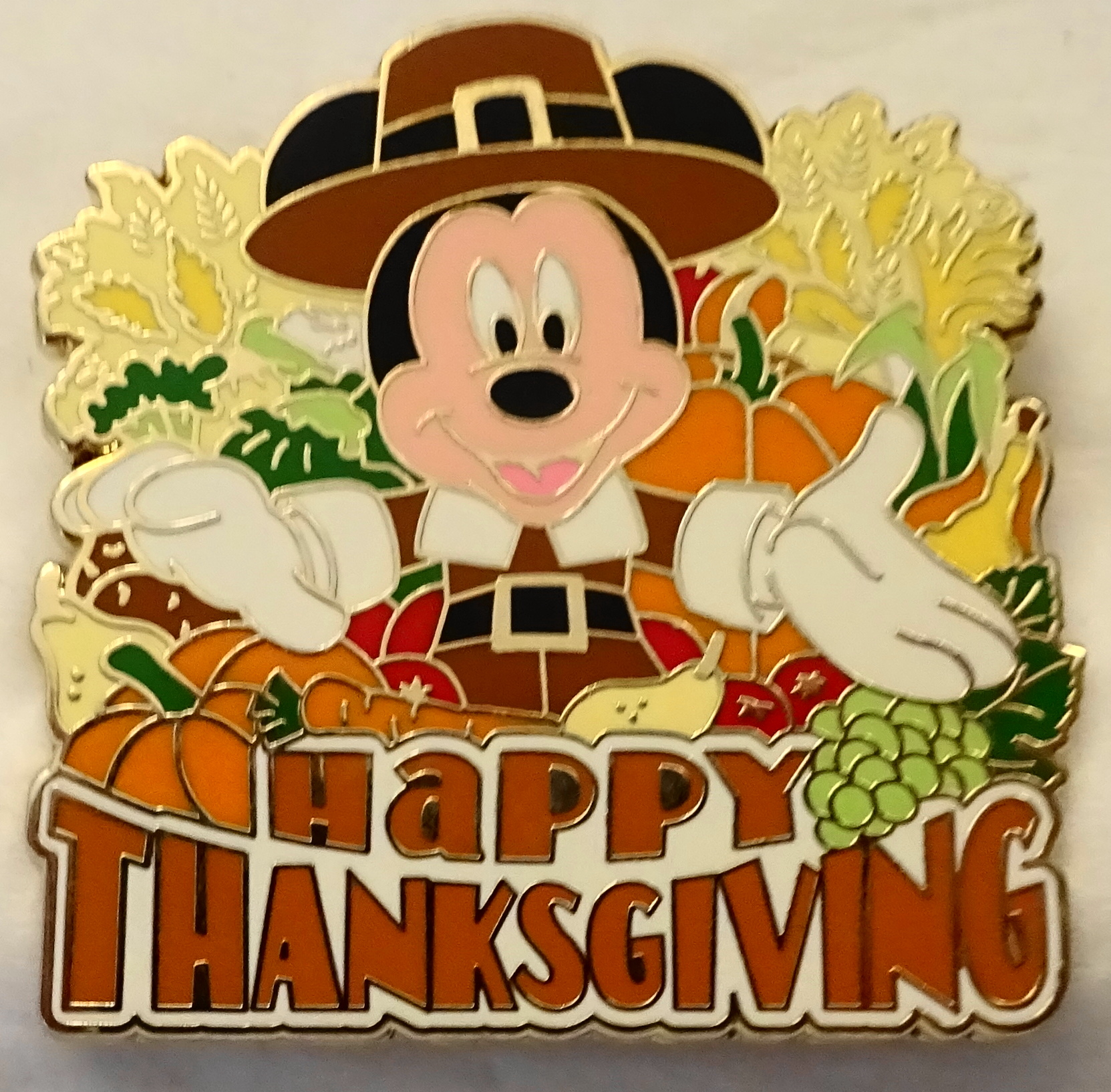 Disney WDW Pilgrim Mickey Mouse Happy Thanksgiving Limited ...