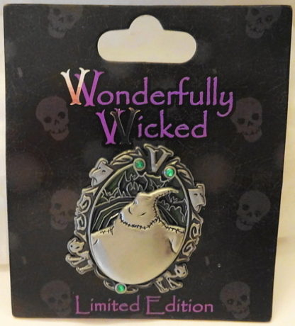 Disney Wonderfully Wicked Oogie Boogie NBC Villain LE Pin New On Card Front