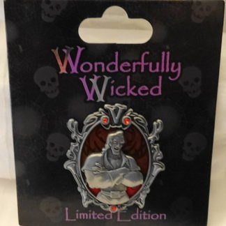 Disney Wonderfully Wicked Pin Gaston Beauty & Beast Villain LE New On Card Front