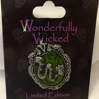 Disney Wonderfully Wicked Pin Kaa The Jungle Book Villain LE New On Card Front