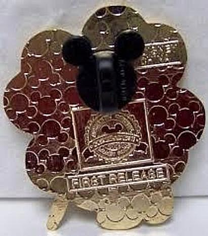 Disney Irish Mickey Pin Shamrock Happy St Patrick's Day New Back