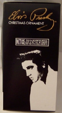 Elvis Black Jumpsuit Ornament Kurt S. Adler Christmas New In Box Side