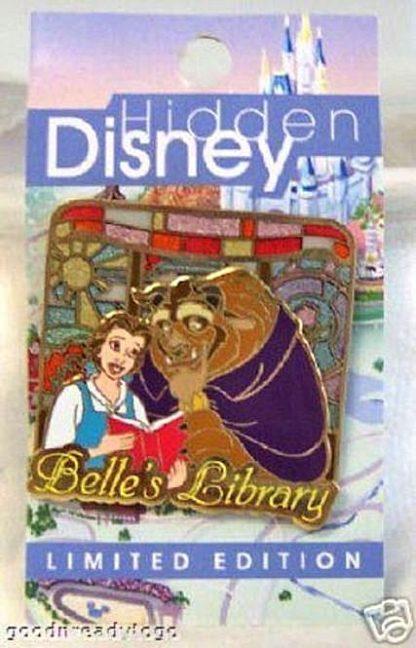 Hidden Disney Belle Pin Beauty & Beast 2006 LE 3D New On Card