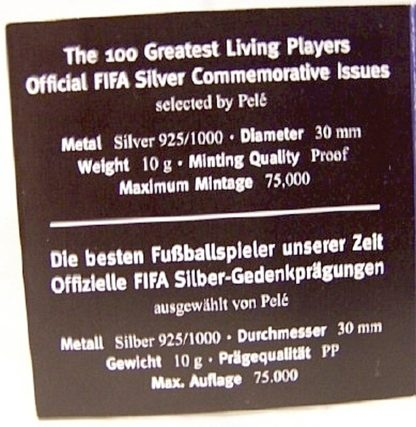 FIFA Beckham Silver Medal New Certificate Of Authenticity Inside Detail