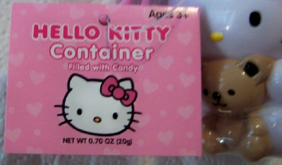 Hello Kitty Candy Container With Clip New With Tag Closeup Of Tag
