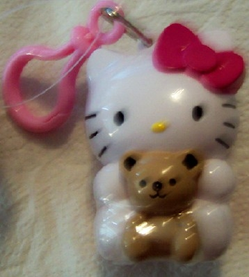 Hello Kitty Candy Container With Clip New With Tag Front Closeup