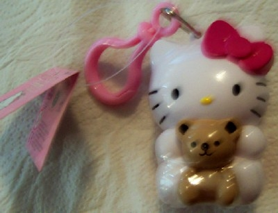 Hello Kitty Candy Container With Clip New With Tag Front