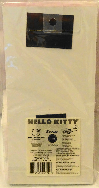 Hello Kitty Magnetic Listpad #60 Sheets New Back