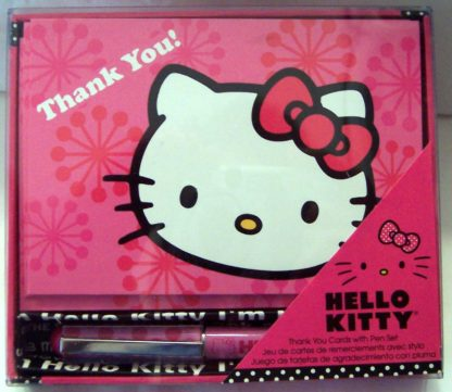 Hello Kitty Thank You #10 Note Cards + Pen New Front