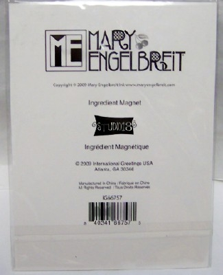 Mary Engelbreit Cherries Ingredient Magnet New Back