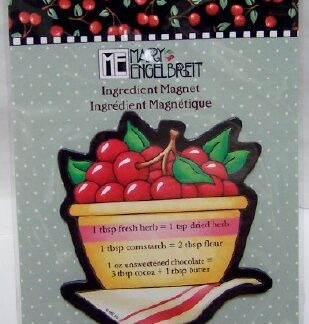 Mary Engelbreit Cherries Ingredient Magnet New Front