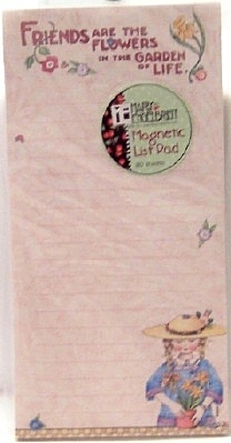 Mary Engelbreit Friends Are The Flowers In The Garden Of Life Magnetic Listpad New Front